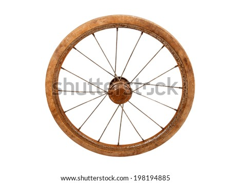 old rusty wheel from baby carriage