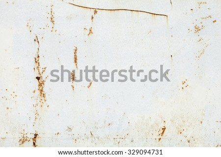 Old rusty white metal background. - stock photo