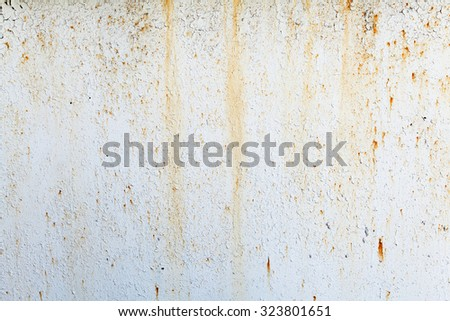 Old rusty white metal. The rust on metal background. Grunge background - stock photo