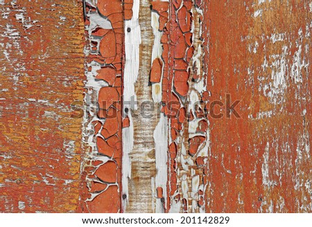 Old rusty wooden wall - stock photo