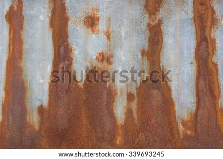 Old rusty zinc plat wall