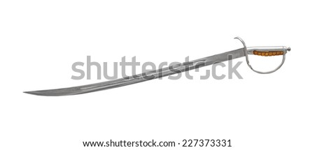 Old saber isolated on white background