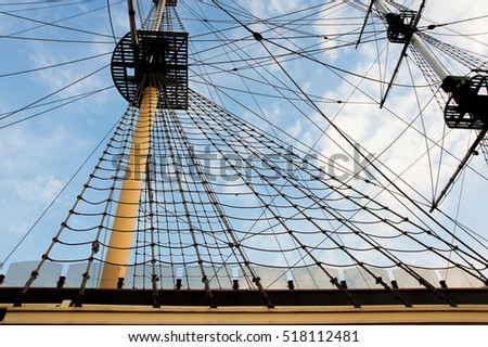 Old sailing ship mast stock photo 518112481 shutterstock old sailing ship mast sciox Gallery