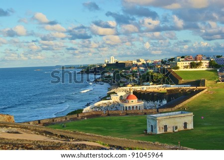 Old San Juan Coast - stock photo