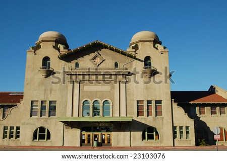 Old Santa Fe train depot building; San Bernardino, California