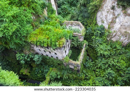 Old Saw mill ruin in Sorrento, Italy was built around the Tenth century.