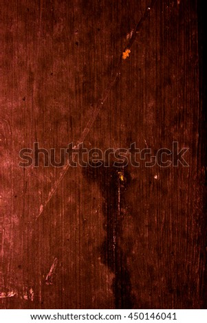 old scary rusty golden and copper metal surface texture/background - stock photo
