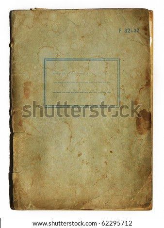old school exercise book cover - stock photo