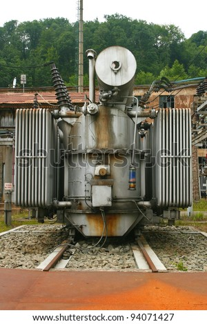 Old school power generator - stock photo