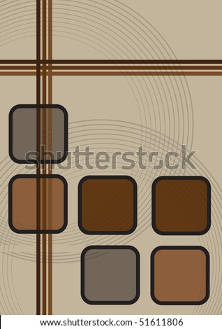 Old school retro vintage graphic design layout with brown colors