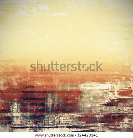 Old school textured background. With different color patterns: yellow (beige); brown; gray - stock photo