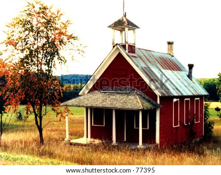 Old Schoolhouse - stock photo