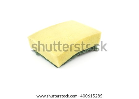 old Scouring pads on white