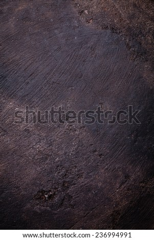 Old scratched black dark background texture  - stock photo