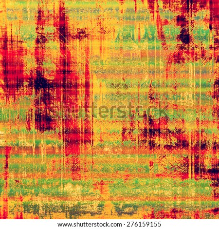 Old scratched retro-style background. With different color patterns: green; red (orange); yellow (beige); pink - stock photo