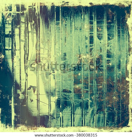 Old scratched retro-style background. With different color patterns: yellow (beige); brown; gray; blue; cyan - stock photo