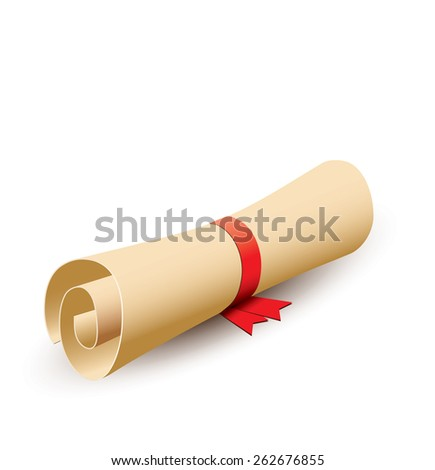 Old scroll - stock photo