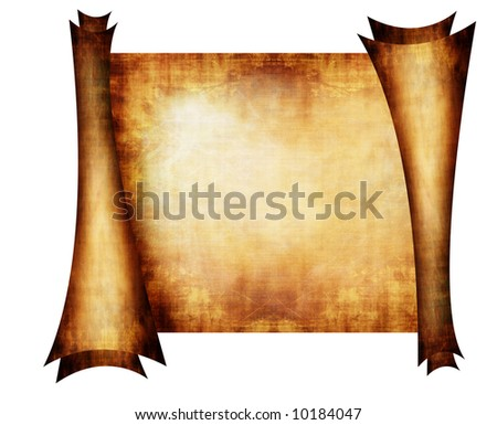 old scroll on white background stock illustration 10184047, Powerpoint templates