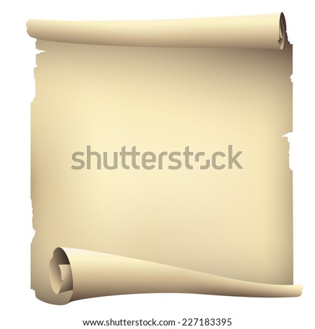 old scroll paper banner - stock photo