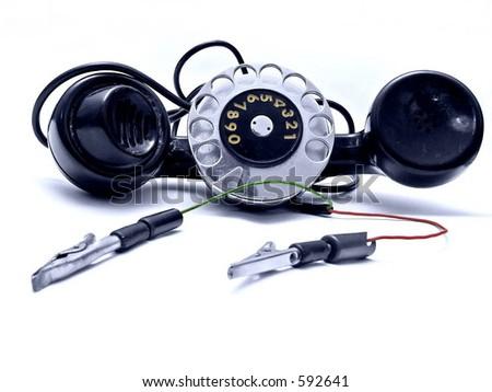 Old service phone/phrekomat - stock photo