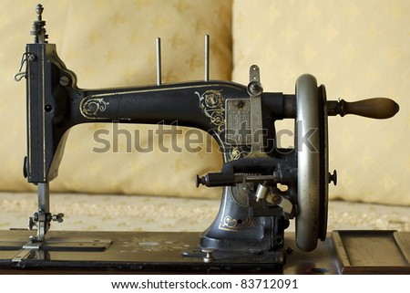 old sewing machine from the early '900 - stock photo