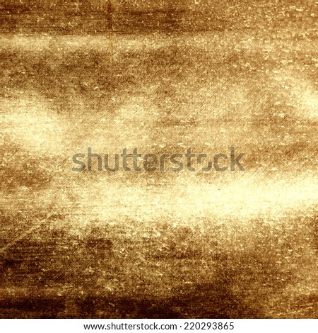 Old shabby gold metal - stock photo