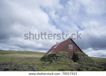 Old Shack in Sk�¦lingar Central Iceland - stock photo