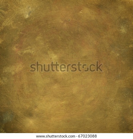 Old sheet bronze as background - stock photo