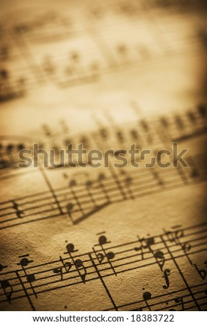 old sheet music - stock photo