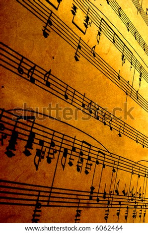 old sheet music - stock photo