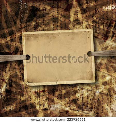 Old sheet of paper for ads and advertising on abstract background - stock photo
