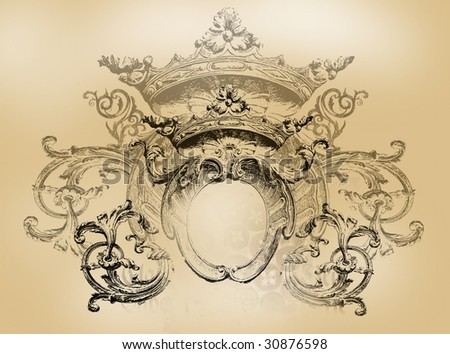 Old shield - stock photo