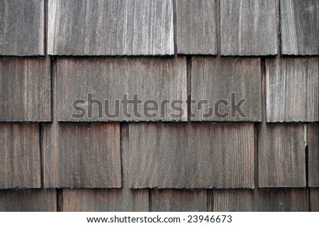 Old Shingle Siding Background - stock photo