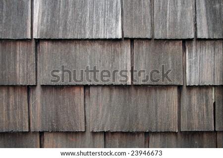 Old Shingle Siding Background - stock photo