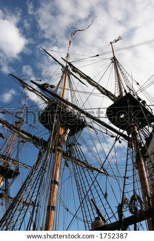 Old ship masts