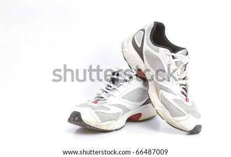 Old shoes and exercise. - stock photo