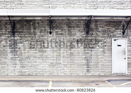 old shopping center background with restroom - stock photo