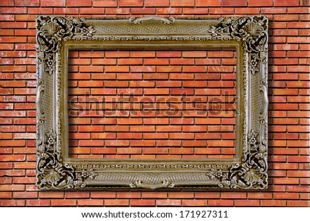 old silver frame - stock photo