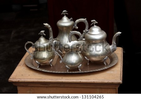 old silver ware set