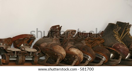 Old Skates on Shelf