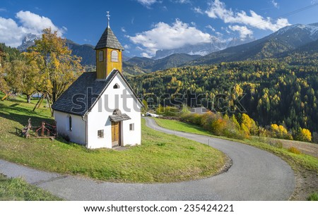 old small church - stock photo