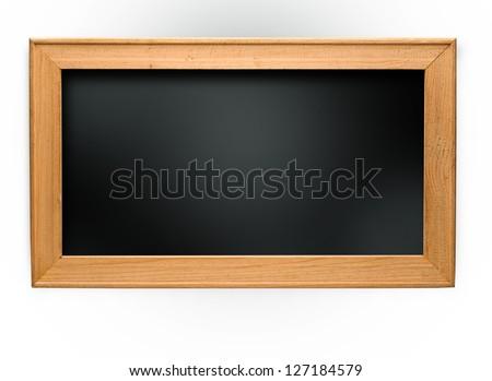 Old small school blackboard - stock photo