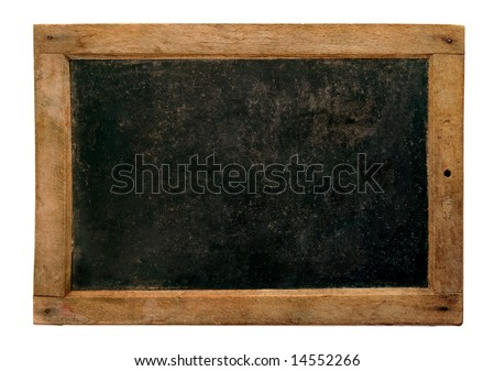 Old small school blackboard - stock photo
