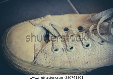 Old sneakers vintage - stock photo