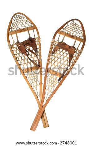 Old Snowshoes - stock photo