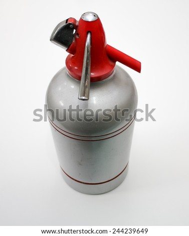 old soda maker, Kitchen equipment that was used to make soda water - stock photo