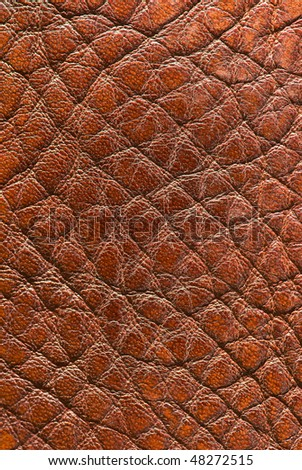 Old soft leather - stock photo