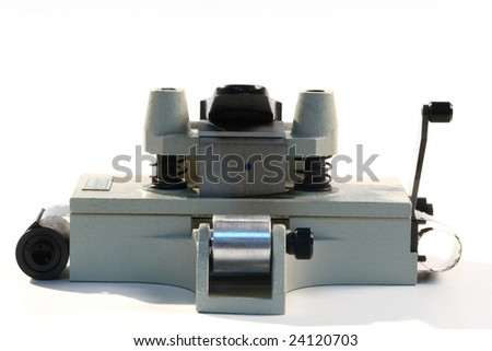 old soviet print trimmer isolated on white background - stock photo