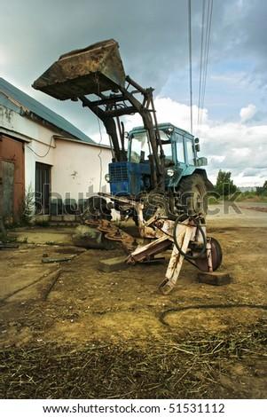Old soviet tractor #2 - stock photo