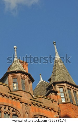 Old Spired Building in Chester, Cheshire, England - stock photo